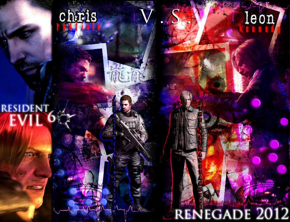 Leon Vs Chris Re6 Abstract Wallpaper By Renegadeoperative On