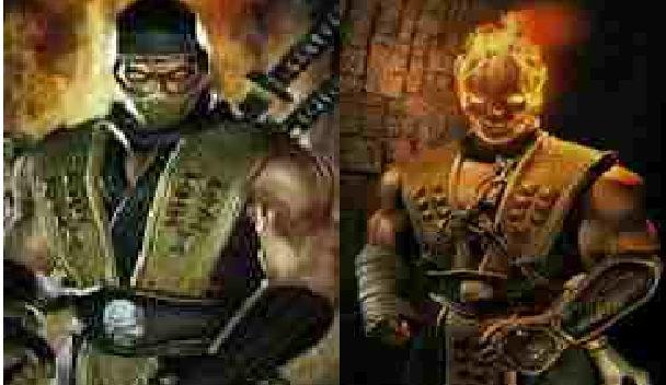 scorpion mortal kombat no mask