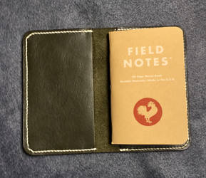 Sage Green field notes wallet by Ravenb2