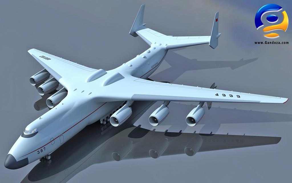 3D Antonov An 225 Soviet Union by Gandoza