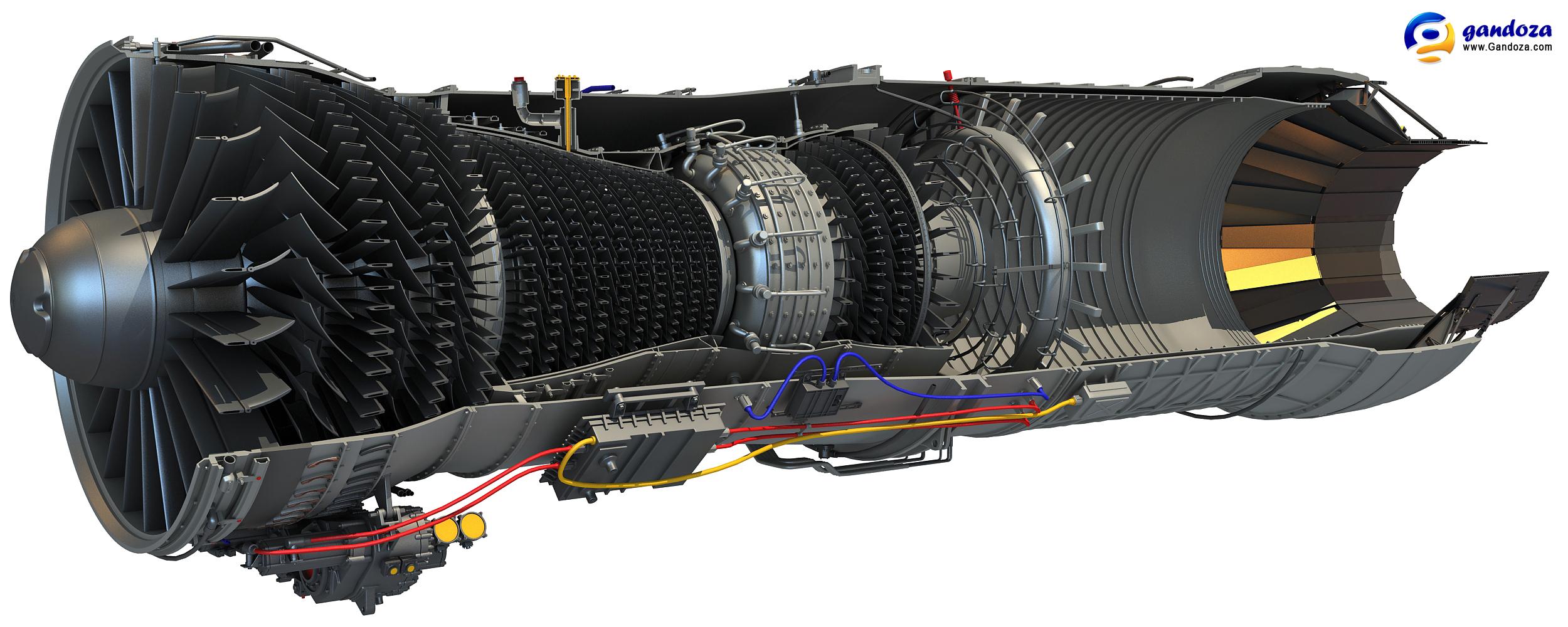 F100 Turbofan Engine Cutaway By Gandoza On Deviantart
