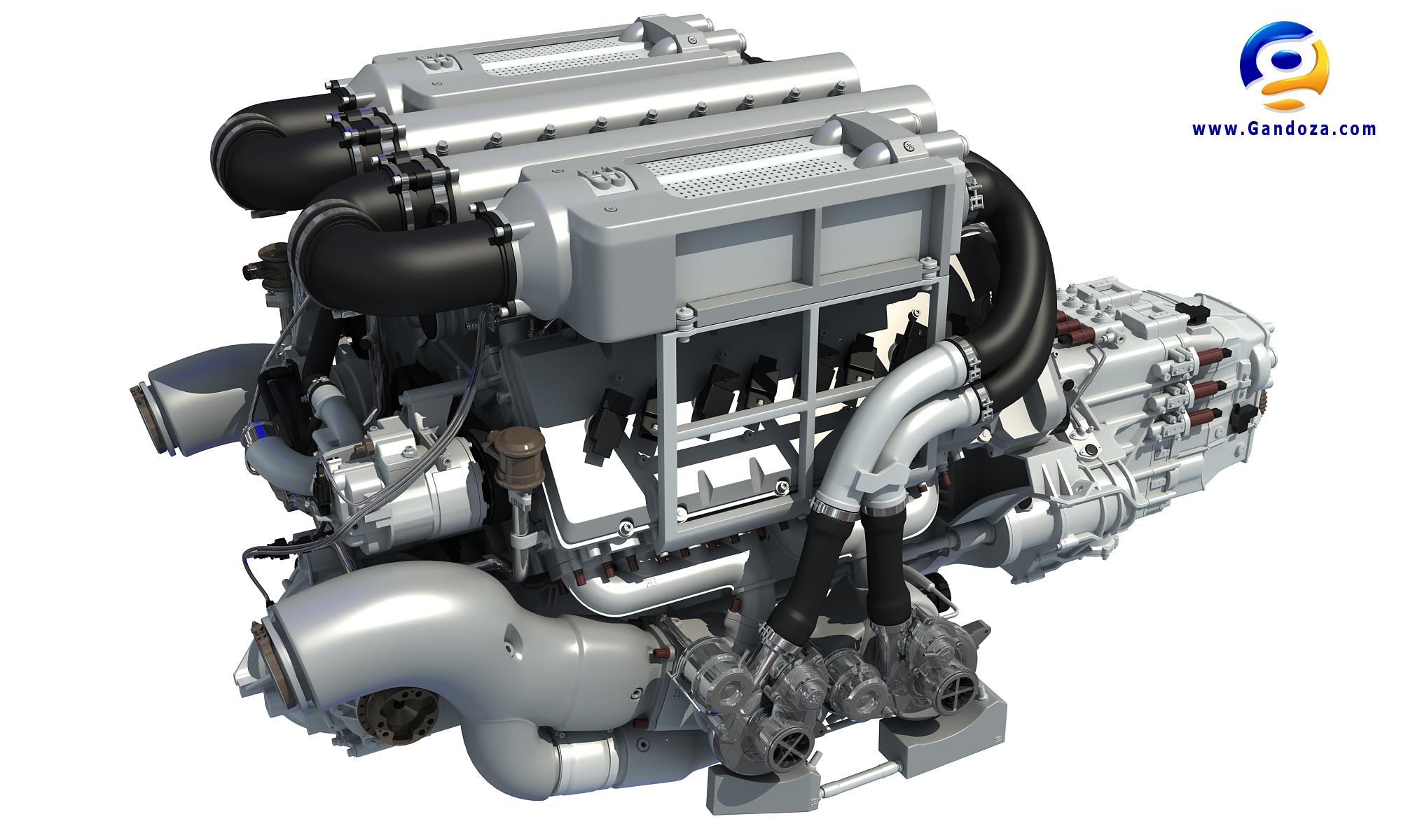 Bugatti Veyron W16 Engine 3D Model by Gandoza on DeviantArtDeviantArt