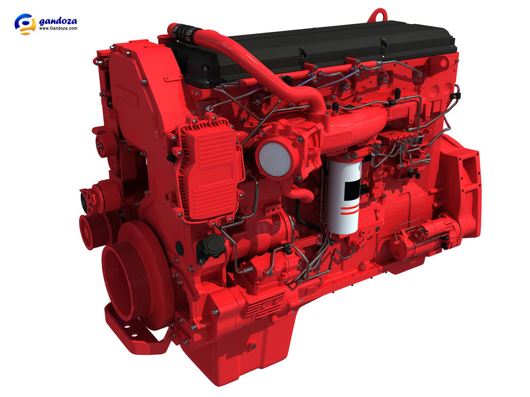 HEAVY DUTY DIESEL ENGINE 3D MODEL by Gandoza