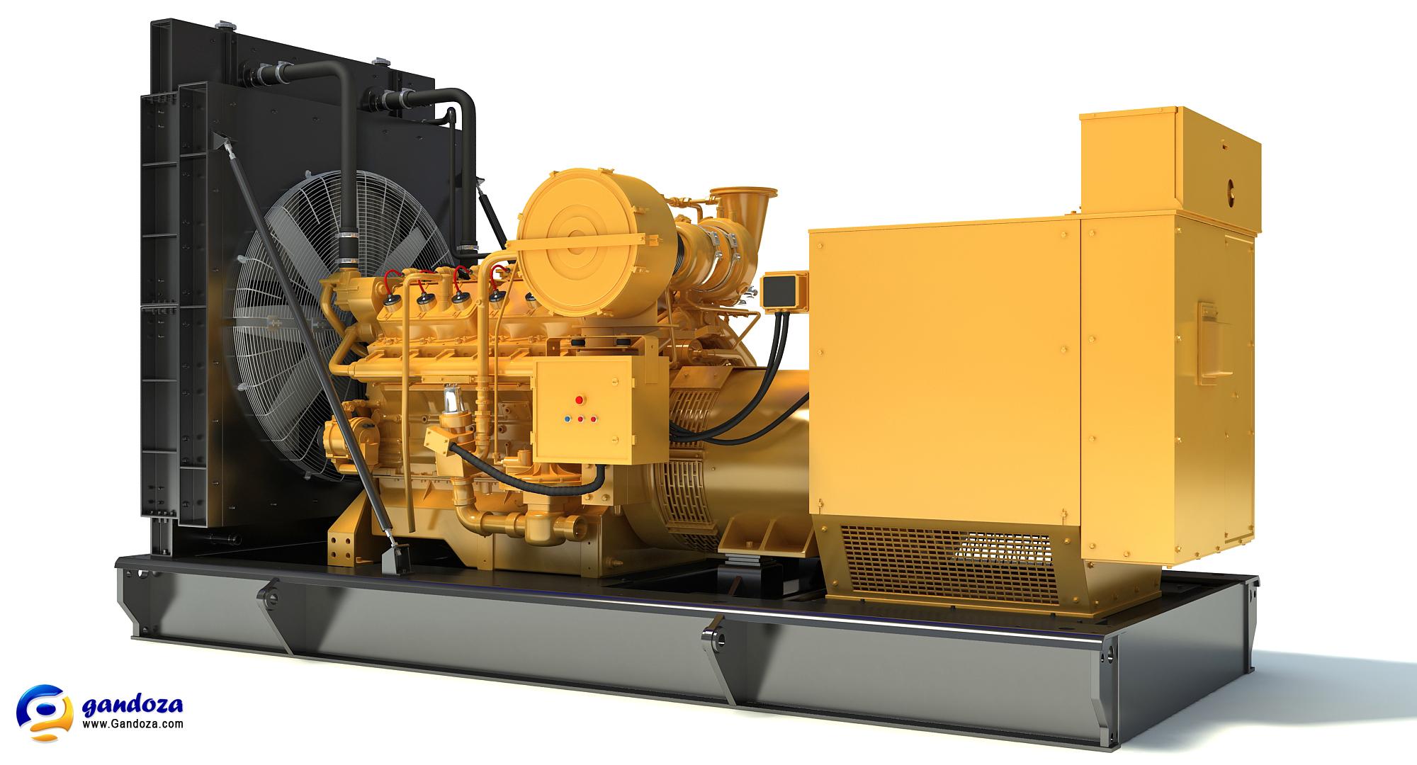 Caterpillar Gas Generator 3D Engine Model by Gandoza on