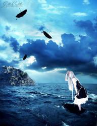 Umbrella Sea. by GoldenCadillac