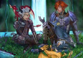 Commission: Dragon's Aery by Amaipetisu