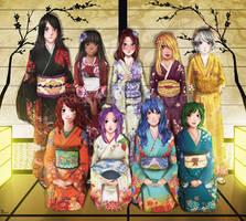 Commission: A group shot by Amaipetisu