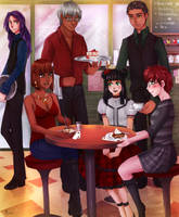 Commission: Butler cafe by Amaipetisu