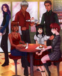 Commission: Butler cafe