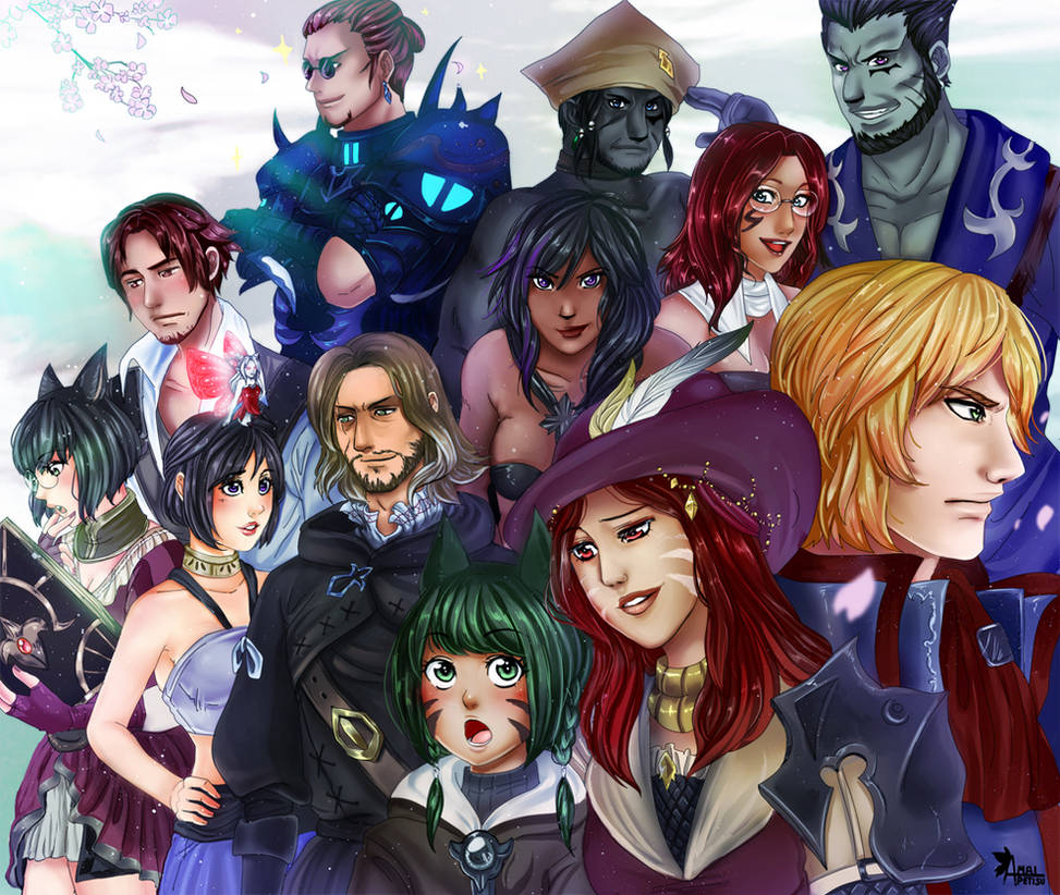 FFXIV - group commission by Amaipetisu