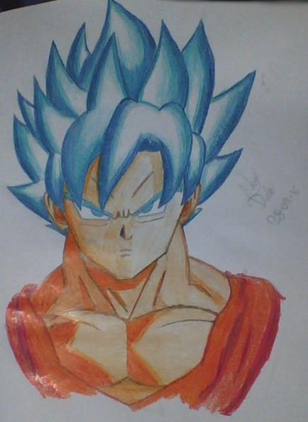 Goku Super Saiyan Blue Drawing By Joaquin72231 On Deviantart