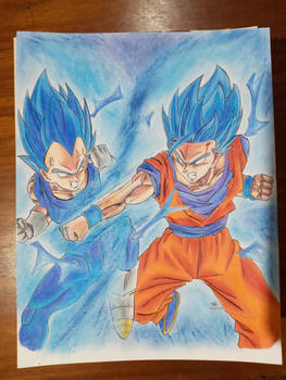 Goku vs Vegeta Super saiyajin azul