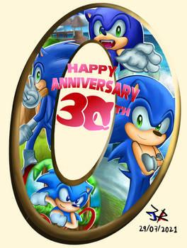 Happy anniversary 30th Sonic!