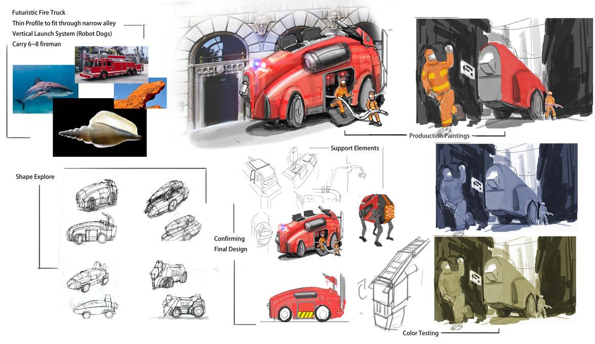 Future Firetruck Design by JerryYeh712