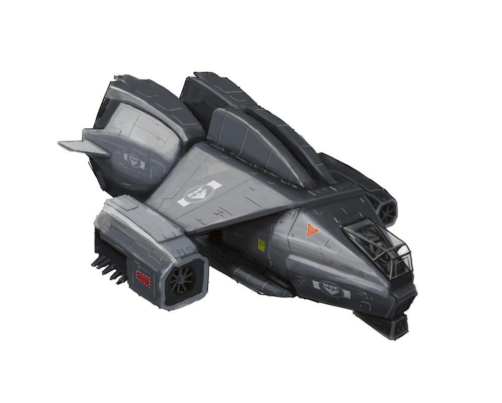 Recon VTOL Ship Design (Police use) by JerryYeh712