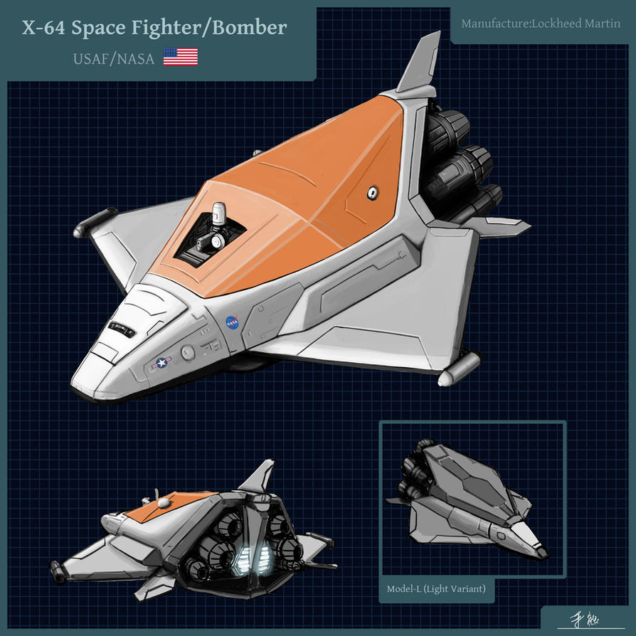 Space Fighter/Bomber Design by JerryYeh712