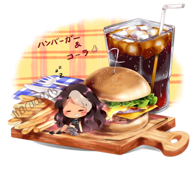 Sleep in Burger zz [auction ych] by macaarons