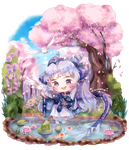 Chill in pond [custom comm] by macaarons
