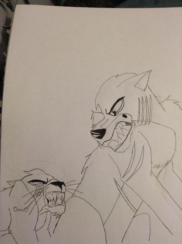 Sebastian the dog vs Claude the cat by partymammal