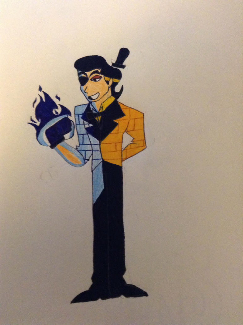 Bill Cipher as a human  by partymammal