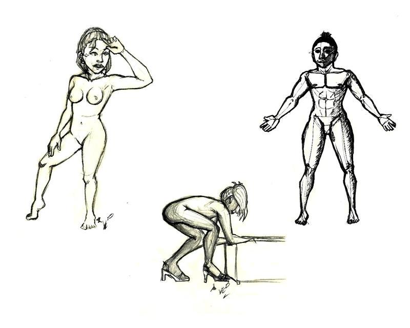 Figure drawing dump by Vtori73