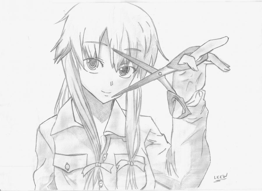 Gasai Yuno By L-Leew On DeviantArt