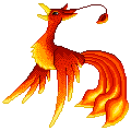 Pixelly Phoenix by crystylla