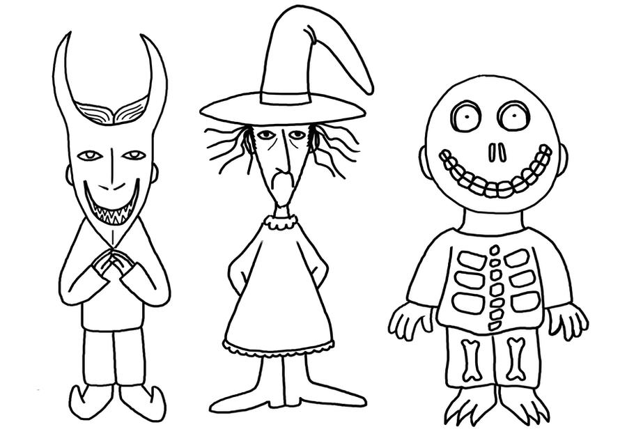 the nightmare before christmas coloring pages coloring pages kids dsc lock shock barrel by kimshibbybob