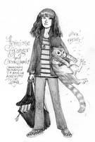 Hermione and Crookshanks by heymatt