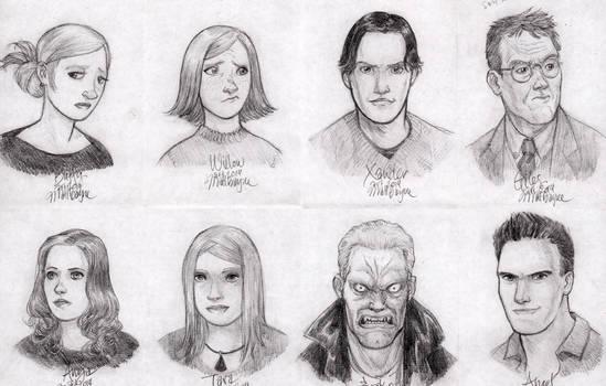 Buffy the Vampire Slayer sketches