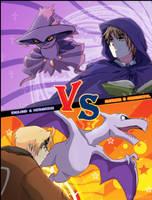 Pokemon battle - UK vs USA by Niconekoness