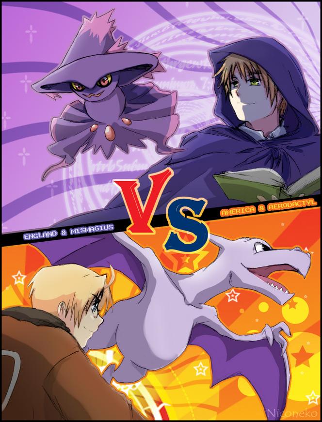 Pokemon battle - UK vs USA by Niconekoness on DeviantArt