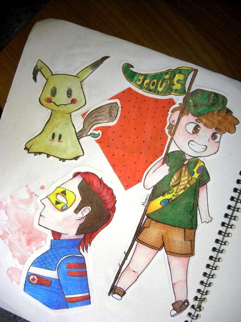 A Sketchbook Page by Nxmii