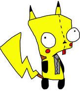 Gir disfrazado de Pikachu by 17GhosT