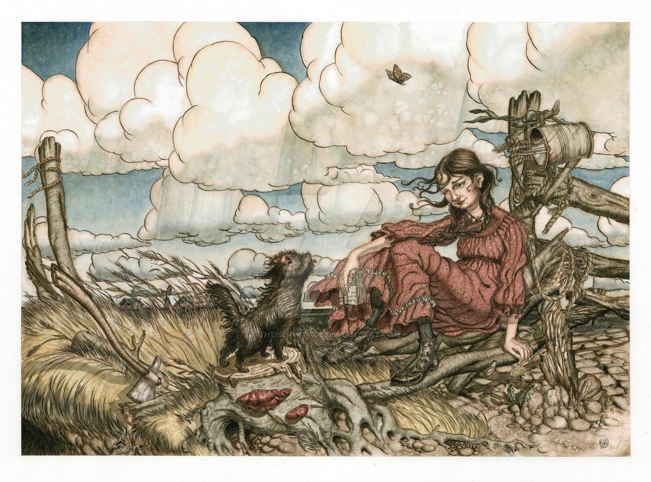 Dorothy on the Kansas Prairies by TheHermitage