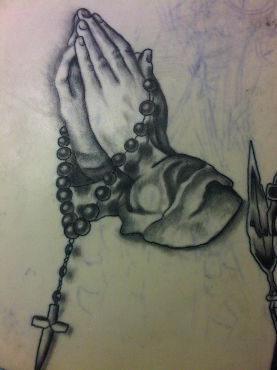 Traditional Praying Hands Tattoo Black And Gray: Praying Hands Tattoo By Neko-dansu On DeviantArt