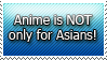 Stamp: Anime + Asians by aromabayleaf