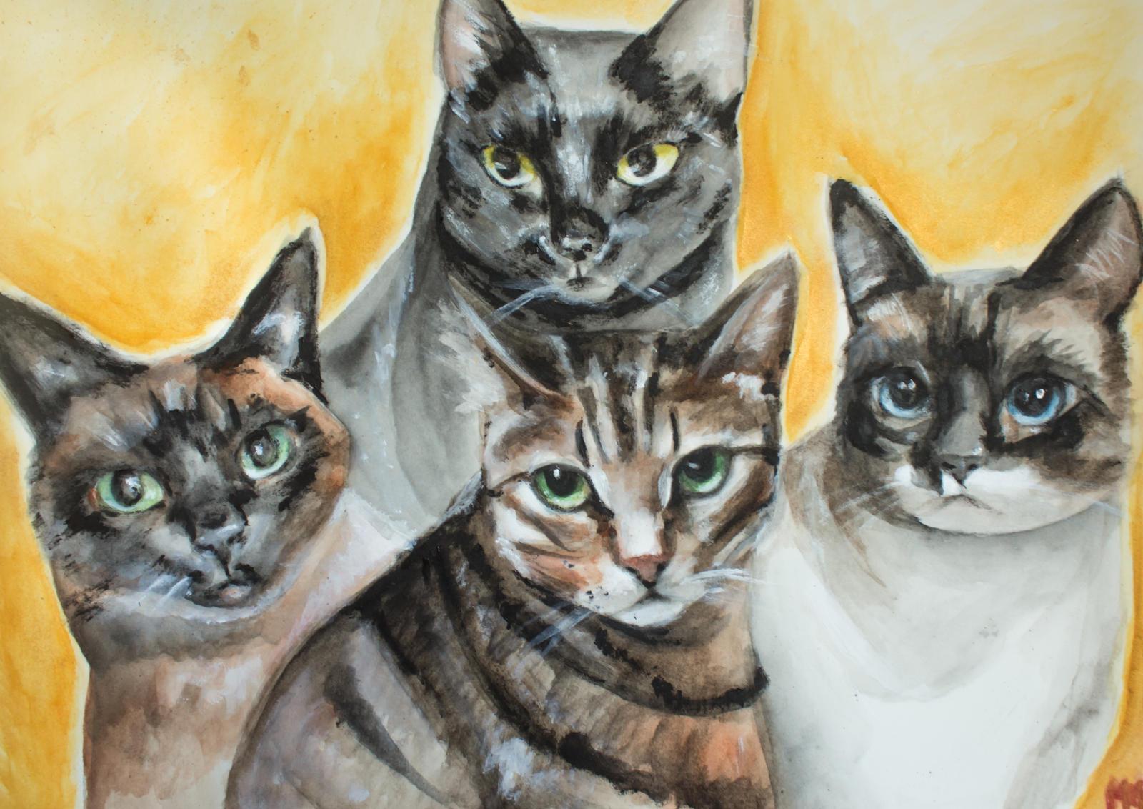 Cat Family by MarieStars