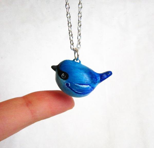 Bluebird necklace by FlowerLandBySaraMax