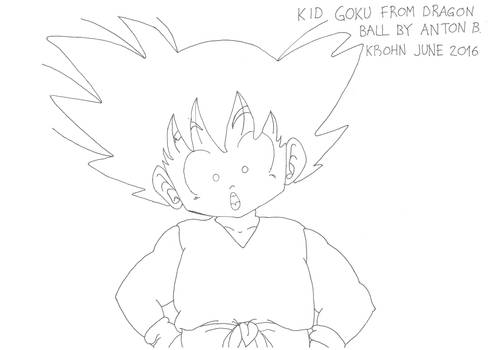 Kid Goku is curious about the world