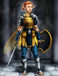 Pixie Warrior by magnesium-cookie