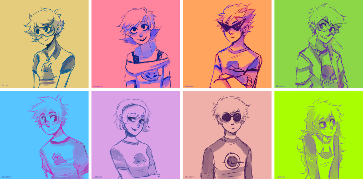 Technicolor Kids by ikimaru-art
