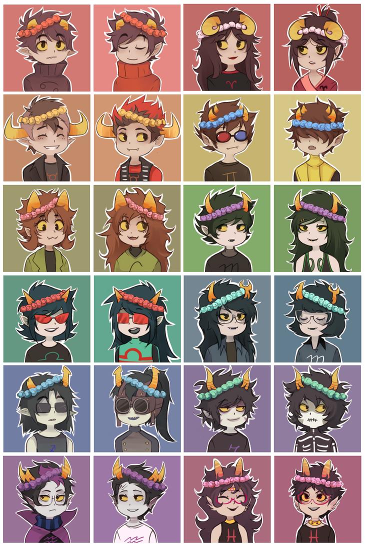 Flowercrown Troll Icons By Ikimaru Art On Deviantart