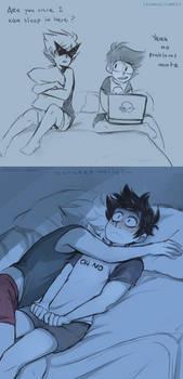 Sleepover Gone Wrong by ikimaru-art