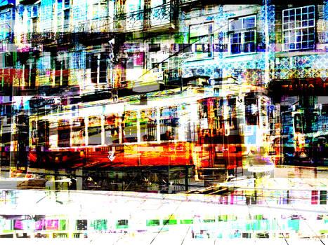 Oporto tram bent by archizero