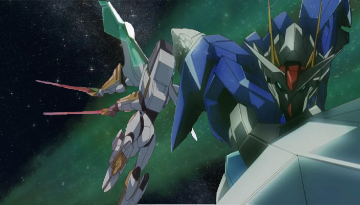 gundam 00 vs lancelot albion by deadzilla0 on deviantart