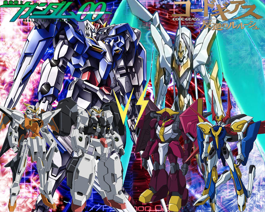 gundam 00 vs code geass by deadzilla0 on deviantart