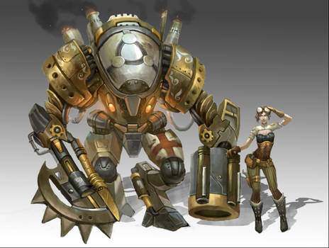 Steampunk Robot + Pilot