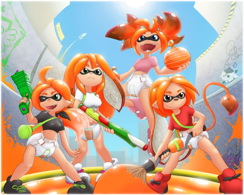 Splatoon Team By The Padded Room On Deviantart