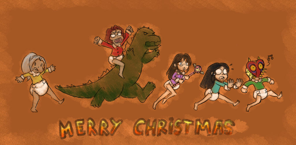 Christmas doodle by The-Padded-Room